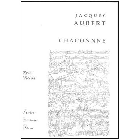Aubert, J.: Chaconne für 2 Violen in d-Moll