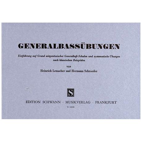 Lemacher, H./Schroeder, H.: Generalbassübungen