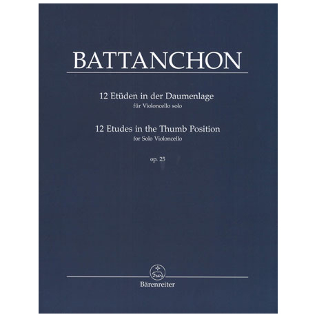 Battanchon, F.: 12 Etüden in der Daumenlage Op. 25