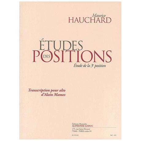Hauchard, M.: Études des positions Band 1 (+CD)