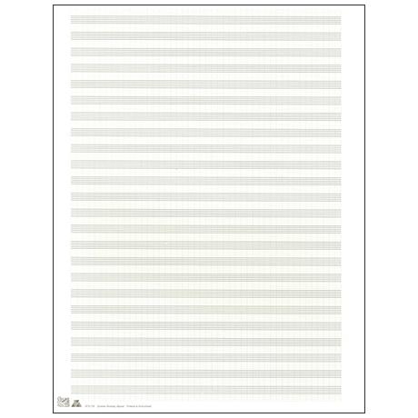 Papier à musique double feuille 270x360 mm