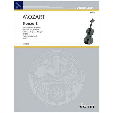 Mozart, W. A.: Violinkonzert KV 216 G-Dur (Ozim)