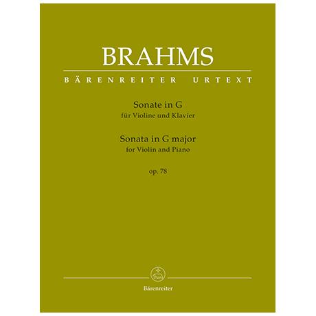 Brahms, J.: Violinsonata Op. 78 G major