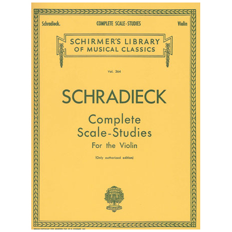 Schradieck, H.: Complete Scale Studies For The Violin