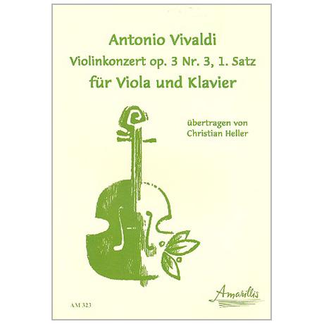 Vivaldi, A.: Violakonzert C-Dur 1. Satz nach Op. 3/3