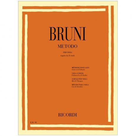 Bruni, B.: Schule für Viola mit 25 Übungen