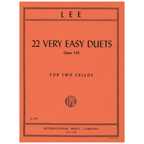 Lee, S.: 22 very easy Duets Op.126