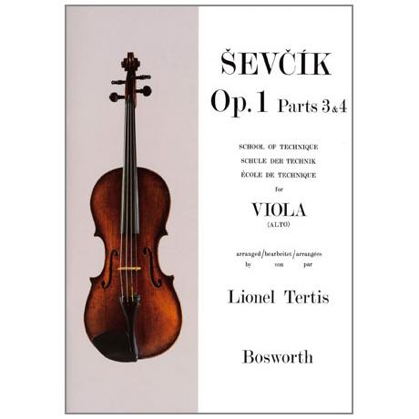 Sevcik, O.: Schule der Technik für Viola op. 1 Heft 3&4