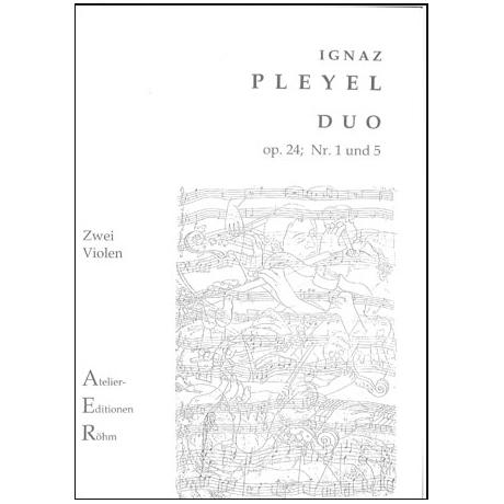 Pleyel, I.: 2 Duos (op. 24, Nr. 1 und 5) für 2 Violinen
