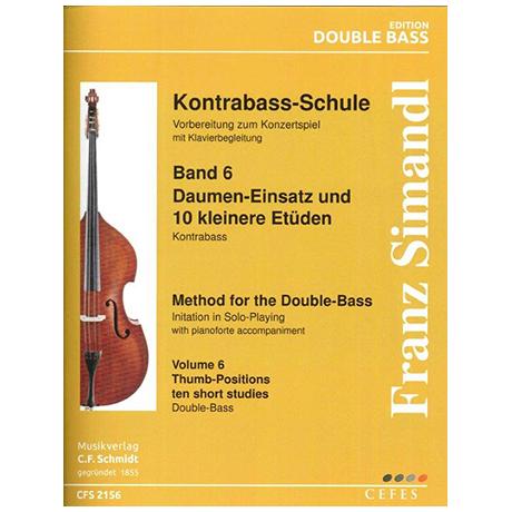 Simandl, F.: Kontrabass-Schule Band 6