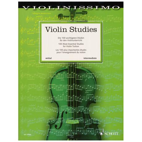 Violin Studies – 100 Most Essential Studies for Violin Tuition