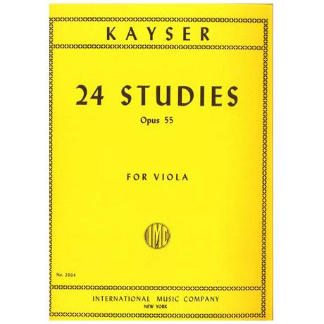 Kayser, H. E.: 24 Violaetüden Op. 55