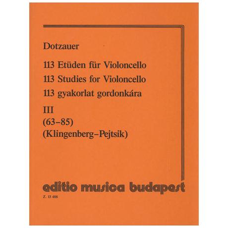 Dotzauer, J.J.F.: 113 Etüden Band 3