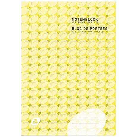 Papier à musique bloc-notes A4