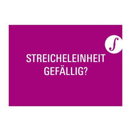 Carte postale STREICHELEINHEIT GEFÄLLIG?