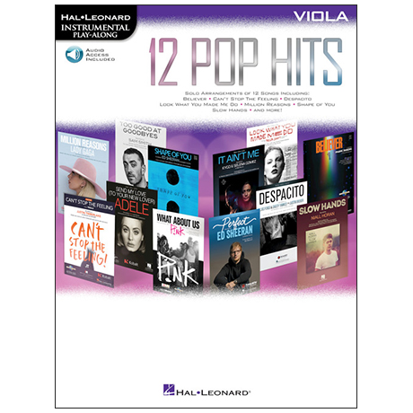 12 Pop Hits for Viola (+Online Audio)