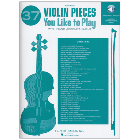 37 Violin Pieces You Like To Play (+Online Audio)
