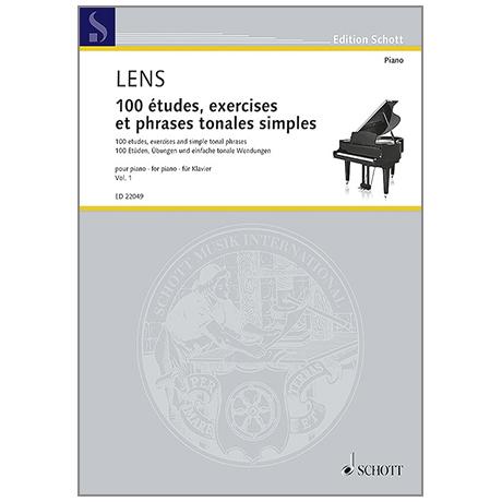 Lens, N.: 100 études, exercises et phrases tonales simples – Band 1