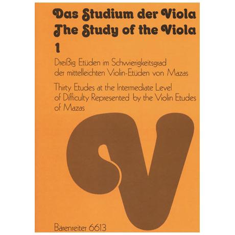 Das Studium der Viola - Band 1