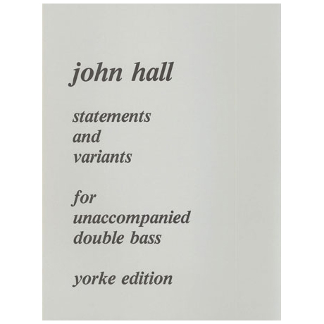 Hall, J.: Statements and Variations