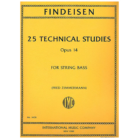 Findeisen, Th.: 25 Technical Studies, Op. 14