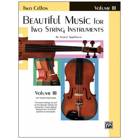 Applebaum, S.: Beautiful Music for two String Instruments Vol. 3 – Cello