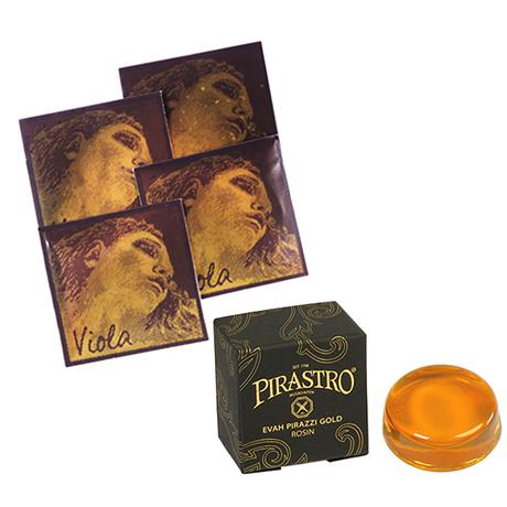 PIRASTRO Evah Pirazzi Gold cordes alto JEU + colophane