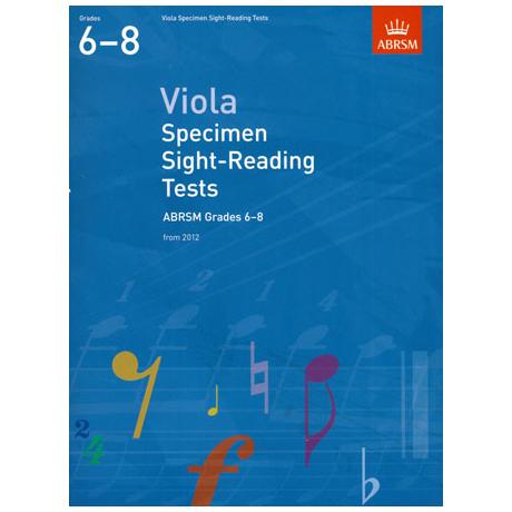 ABRSM: Viola Specimen Sight-Reading Tests – Grades 6-8 (From 2012)