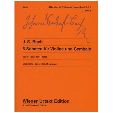 Bach, J. S.: 6 Violinsonaten Band 1 (Nr. 1-3) BWV 1014-1016