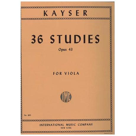 Kayser, H.E.: 36 Etüden Op. 43
