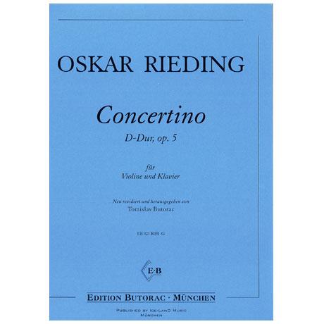 Rieding, O.: Concertino Op. 5 D-Dur