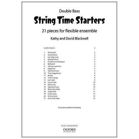 Blackwell, K. & D.: String Time Starters – Double Bass(+Online Audio)
