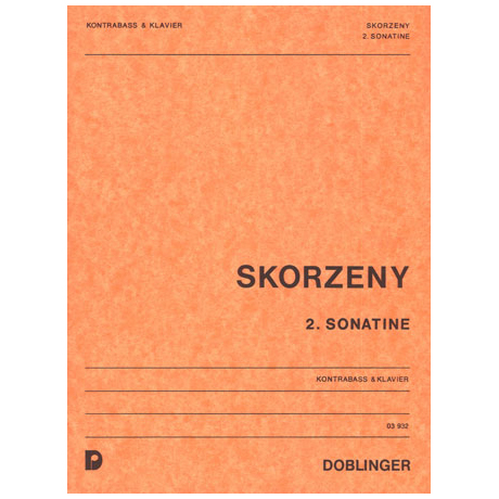 Skorzeny, F.: 2. Kontrabasssonatine