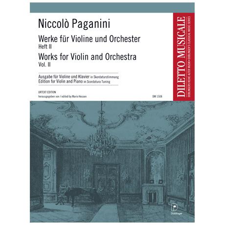 Paganini, N.: Werke für Violine und Orchester Band 2 in Skordaturstimmung