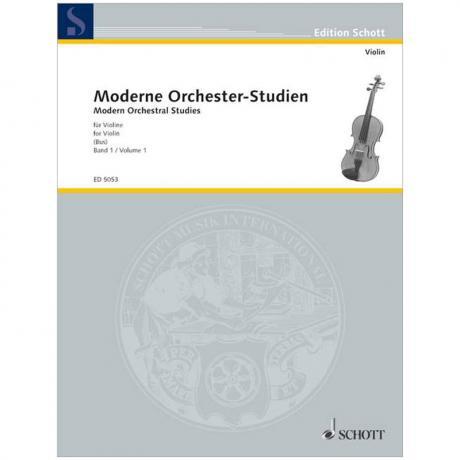 Moderne Orchester-Studien für Violine Band 1