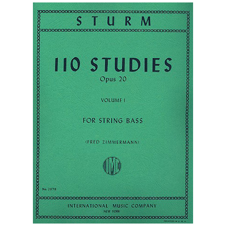 Sturm, W.: 110 Studies Op. 20 Vol. 1 (Nr. 1-55)