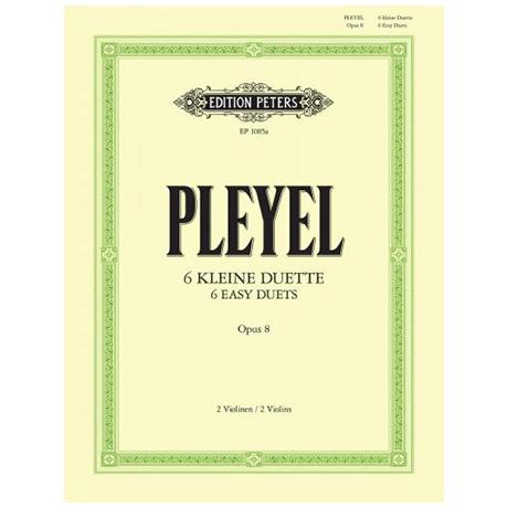 Pleyel, I.: 6 kleine Duos Op. 8