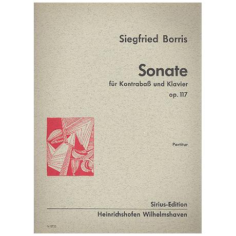 Borris, S.: Kontrabasssonate Op. 117