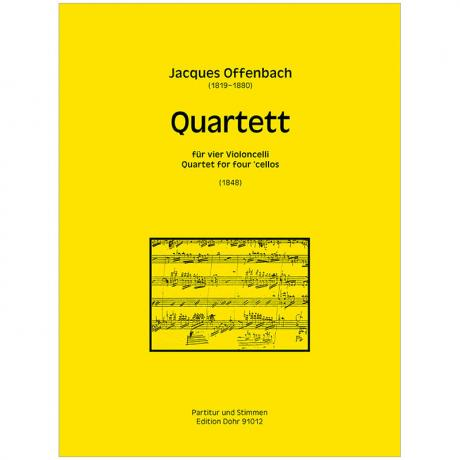 Offenbach, J.: Celloquartett A-Dur (1848)