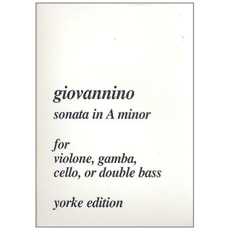 Giovannino, L. L.: Kontrabasssonate a-Moll »del Violone«