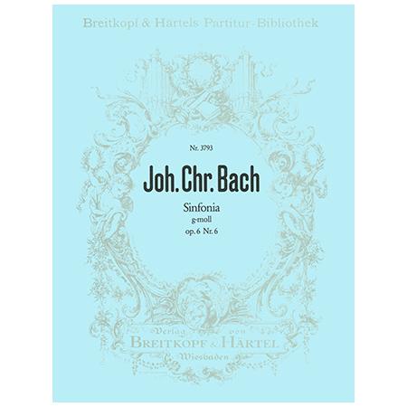 Bach, J. C.: Sinfonia g-Moll Op. 6 Nr. 6