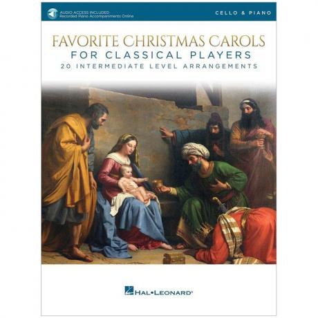 Favorite Christmas Carols for Classical Cello Players (+Online Audio)