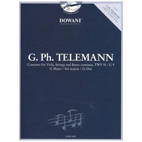 Telemann, G. Ph.: Violakonzert G-Dur TWV51: G9 (+CD)