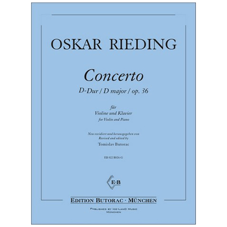Rieding, O.: Concertino Op. 36 D-Dur
