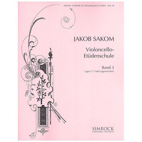 Sakom, J.: Violoncello-Etüden-Schule Heft 3