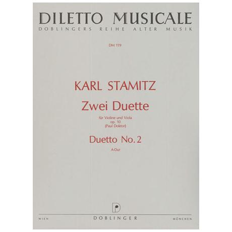 Stamitz, K.: 2 Duette Op. 10/2 A-Dur
