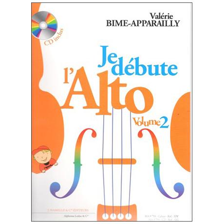 Bime-Apparailly, V.: Je Débute l'alto Vol. 2 (+CD)