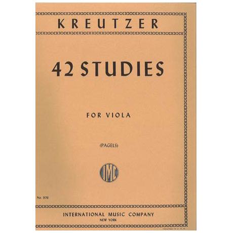 Kreutzer, R.: 42 Etüden