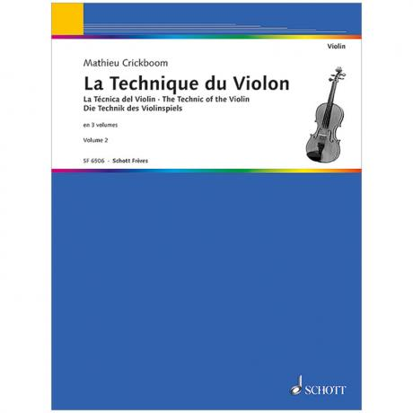 Crickboom, M.: Die Technik des Violinspiels Band 2