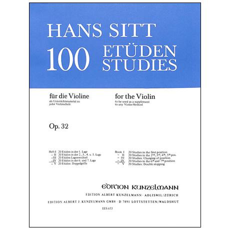 Sitt, H.: 100 Etüden Op. 32 Band 4
